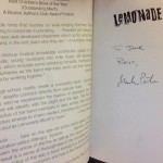 signed Lemonade Mouth book
